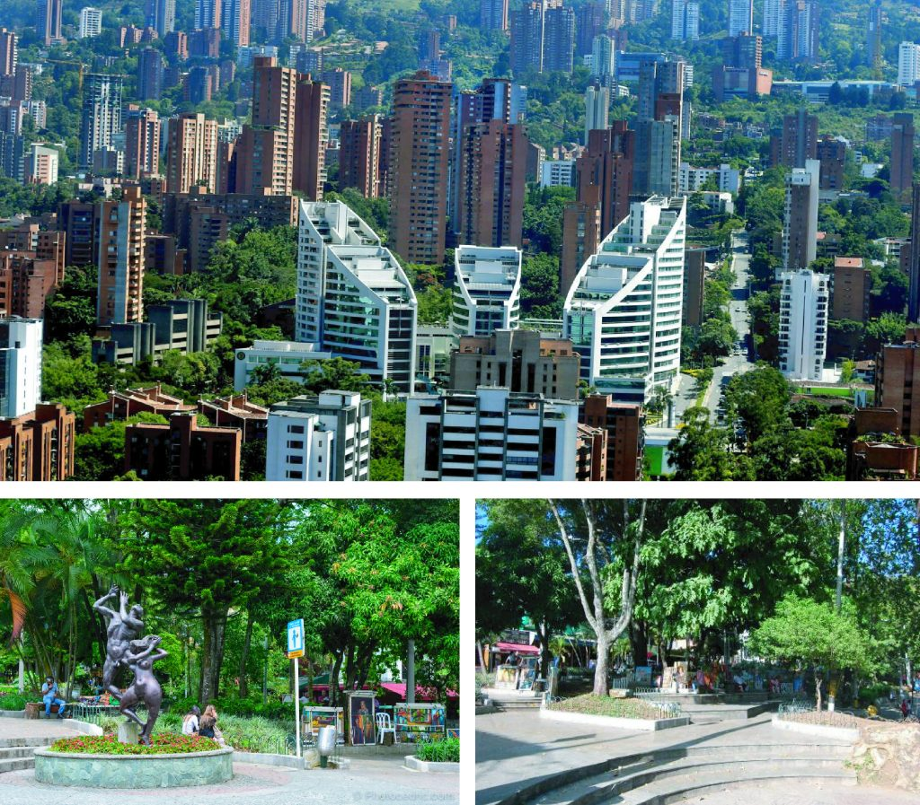 Aerial views of tourists' favorite neighborhood in MedellÍn, El Poblado